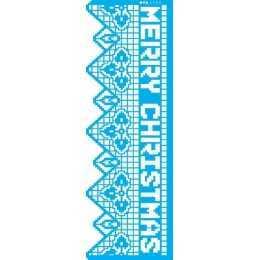 Stencil de Acetato OPA 10x30cm - OPA 2733 Negativo Renda Merry Christmas