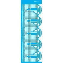 Stencil de Acetato OPA 10x30cm - OPA 2735 Negativo Renda Vela