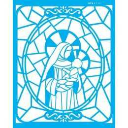 Stencil de Acetato OPA 20x25cm - OPA 2740 - Vitral N.Senhora I