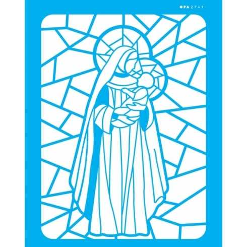 Stencil de Acetato OPA 20x25cm - OPA 2741 - Vitral N.Senhora II