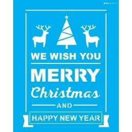Stencil de Acetato OPA 20x25cm - OPA 2557 - Frase: Merry Christmas II