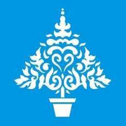 Stencil de Acetato Litoarte 10x10cm - STNX009 - Árvore de Natal