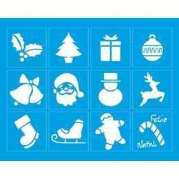 Stencil de Acetato Litoarte 20x20cm - STRN004 - Objetos de Natal
