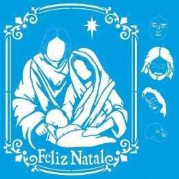 Stencil de Acetato Litoarte 25x25cm - STXXVN001 - Natal