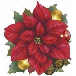 Aplique em Papel e MDF - APMN8 - 089 - Flores de Natal