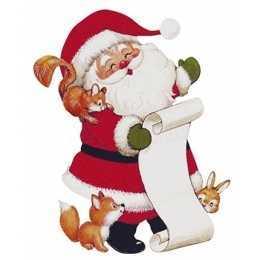 Aplique em Papel e MDF - APMN8-142 - Papai Noel - 1 unidade