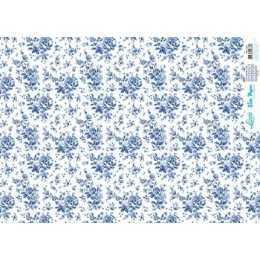 Papel para Decoupage Slim Paper - SPL024 - Flores Azuis