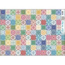 Papel para Decoupage Slim Paper - SPL010 - Estampa de Azulejos