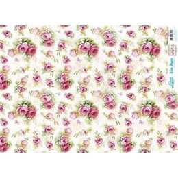 Papel para Decoupage Slim Paper - SPL013 - Rosas