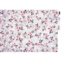 Papel para Decoupage-Opapel 2811-Flores Rosas