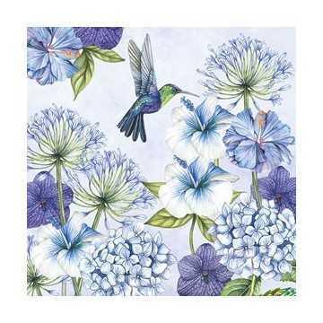 Guardanapo Flores Azuis com...