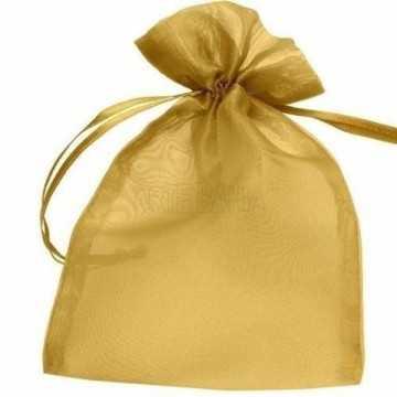 Saquinho de Organza Ouro -...