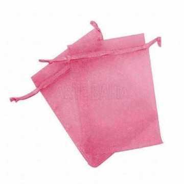 Saquinho de Organza Pink -...