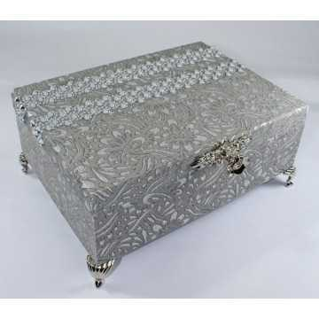 Caixa de Bijouterias Prata...