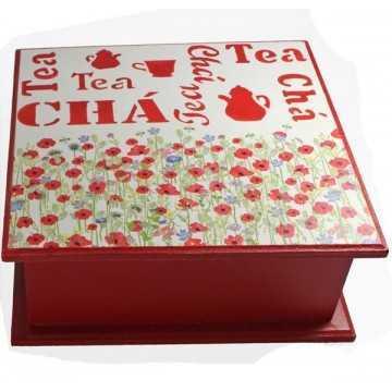 Caixa de Chá 4 Divisões -...