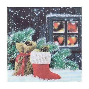 Guardanapo  Noite natalina,...