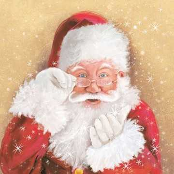 Guardanapo Papai Noel com a...