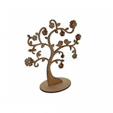 Aplique em MDF -  Árvore 15cm