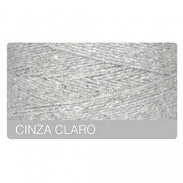 Barbante 420m - Nº8 - Cinza...