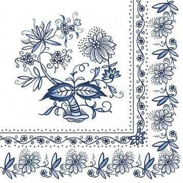 Guardanapo Flores Azuis no...