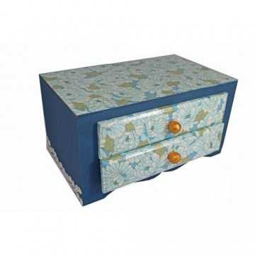 Caixa de Biju - Azul Escuro...