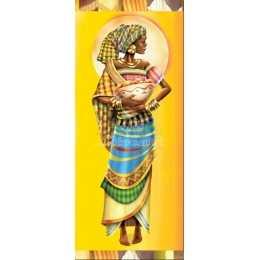 Papel para Arte Francesa 20x48cm - LFR11-Africana com Bacia
