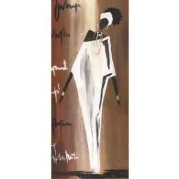 Papel para Arte Francesa 20x48cm - LFR20-Dama Negra