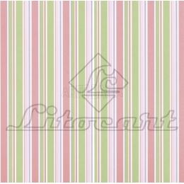LSC060 - Listrado Rosa e Verde