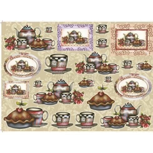 Papel para Decoupage LD602 - Chá com Bolo