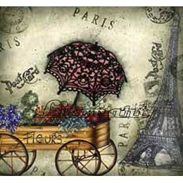Adesivo de Papel para Decoupage 20x20cm - LAQ062-Paris Floricultura