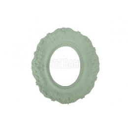 905 - Moldura com Espelho - Oval Flor - 11x12,5cm