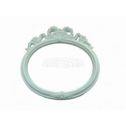 992 - Moldura com Espelho - Laço Oval - 21x22cm