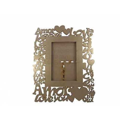 Porta Retrato em MDF - Foto 10x15cm - Love