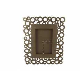 Porta Retrato em MDF - Foto 10x15cm - Círculos
