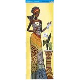 AFVE056 - Africana e Vaso de Flores