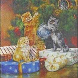 Guardanapo Gatos na Árvore...
